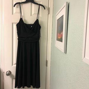 Little black dress with hidden zipper ruched waist